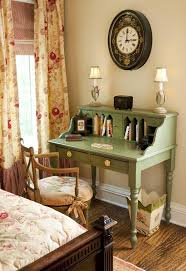 A place to write in a cottage bedroom.
