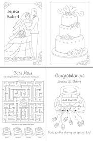 Personalized Wedding Coloring Books Personalized Colouring Pages