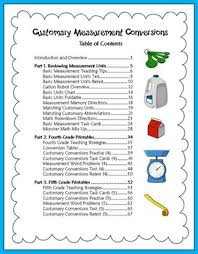 Customary Measurement Conversions Activities For 4th And 5th Grade