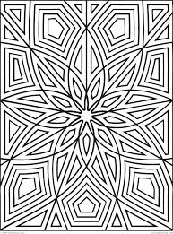 pattern coloring page pages patterns free geometric kindergarten for