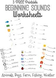 free beginning sounds letter worksheets for early learners animal ...