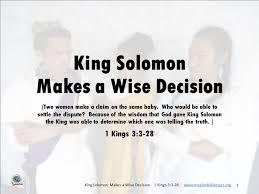 King Solomon's Wisdom | Mission Bible Class