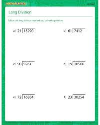 Math Long Division Worksheets   Long Division - division PDF for ...