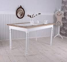 Esstisch Vintage Holz Tisch Landhausstil Holztisch Antik Weiss