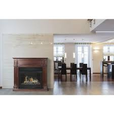 vent free dual fuel fireplace in cherry