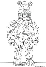 Coloring Pages Of Nightmare Foxy Coloring Pages Best