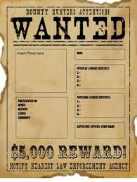 Digital Western Wanted Poster
