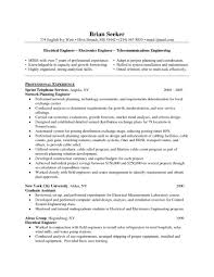 Engineer Resume Best Template For Engineers Aircr Saneme