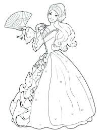 Barbie Princess Coloring Pages Luxury Barbie Doll Coloring Pages