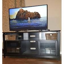 tv stand under 200. Modren Under Wood Television Stand In Black With 200 Lb Weight Capacity Inside Tv Under N