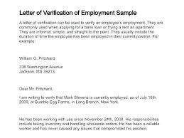Verification Letter From Employer Letter Loan From Employer Sample Clearance Of Verification