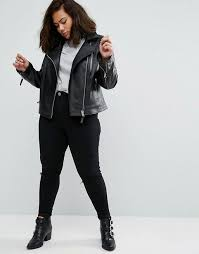 asos curve ultimate leather biker jacket with quilting detail 136 available at asos