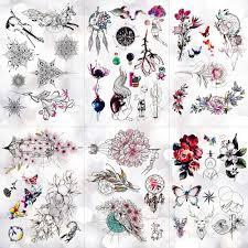 геометрические кружевные цветы водонепроницаемые временные