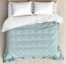 morrocan duvet cover set modern design with eastern ethnic style forms ivy frame like in two diffe colors decorative bedding set with pillow shams