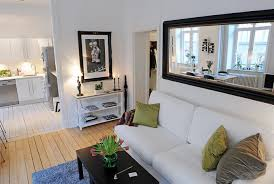 image of living room mirrors design
