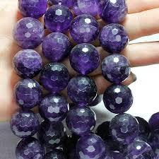 <b>Wholesale</b> Amethyst <b>Stone</b>, 8 mm & 16 mm. <b>Faceted</b> Round ...