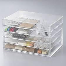 f s new muji acrylic case 5 drawers large size make up