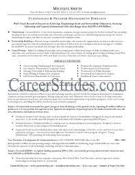 fundraising executive resume