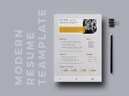 Indesign Modern Resume Free Modern Cv Template In Indesign File Format