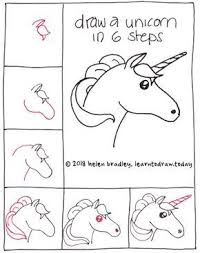 Simple Steps For Unicorn Gigi In 2019 Unicorn Drawing Easy