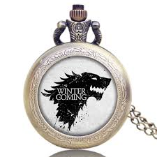 Game Of Thrones Stark House Crest Wooden Plaque Hot Teleplay Game of Thrones Pocket Watch House Stark of 84