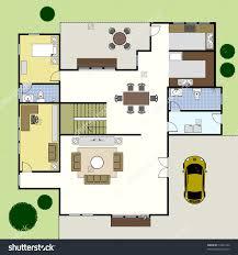 Ground Floor Plan Floorplan House Home Stock Vector 74222734 Best Floor  Plans For Houses