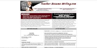 Review Of Teacher Resume Writin Sevte