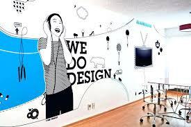 creative office walls. Office Wall Design. Interesting Decoration Ideas Design Creative Stirring Corporate Murals Google Walls