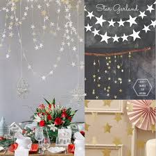 amazing hanging decoration for room 4 m gold star garland paper birthday party wedding child wall living baby toddler classroom