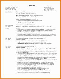 Mechanical Engineering Resume Samples Doc Sample Pdf Format Free