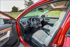 the cr v has an expanded 39 2 cubic ft of cargo space behind the rear seats and a volume of 75 8 cu ft with the rear seats down to create a flat load