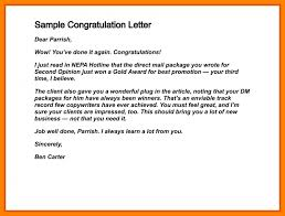 Congratulations Email For New Job Sample Congratulations Letter For New Job Guatemalago
