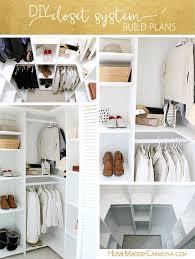 closet organizer plans for a deep closet