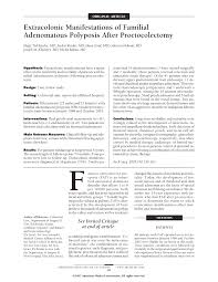extracolonic manifestations of familial adenomatous polyposis first page pdf preview
