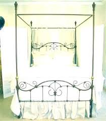 Rod Iron Canopy Beds Wrought Iron And Wood King Bed Flower Pictures ...