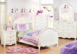 Adrian Twin White 6Pc Sleigh Bedroom - Girls' Bedroom Sets