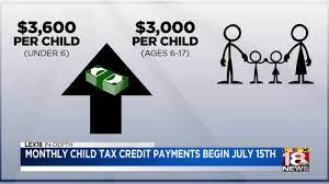 Monthly child tax credit payments begin ...