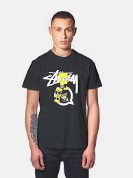 Stussy T Shirt Size Chart Stussy Bart Simpson T Shirt