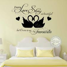 romantic bedroom wall decals. Every Love Story Is Beautiful, Ours My Favourite Romantic Quote Bedroom Wall Sticker Decor Decal With Swans Decals O