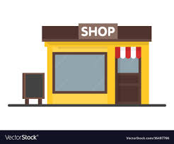 Signboard Template Facade Shop Store Icon With Signboard Template Vector Image