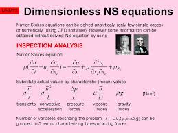 dimensionless ns equations mhmt5 navier stokes equations can be solved yticaly only few simple cases