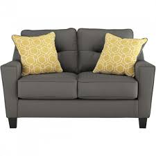 Ashley Furniture Forsan Nuvella Loveseat in Gray