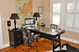 vintage modern living contemporary home office idea in sacramento with beige walls medium tone hardwood floors desk office design charmingly office desk design home office office