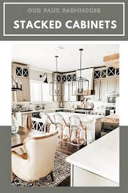 Our Faux Farmhouse ◊ DIY ◊ Stacked Cabinets ◊ Rustic ◊ Kitchen ...