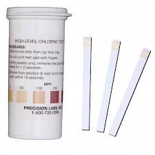 High Level Chlorine Test Strips