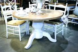 white distressed kitchen table diy with bench black round dining set