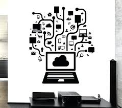 wall decal for office. Wall Decals For Offices Removable Vinyl Decal Computer Online Social  Network Gamer Internet Teen Mural Office
