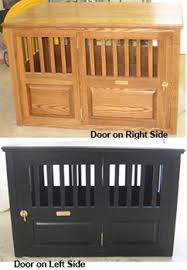 wooden dog crate furniture. Solid Ash Wooden Dog Crate With Side Door Option Furniture