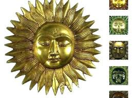smiling metal sun face indooroutdoor wall art