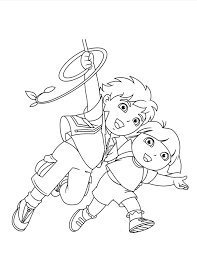 Dora Diego Coloring Pages Print Cartoon Coloring Pages Of